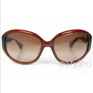 Betsey Johnson Sunglasses Safari Chic Oval Brown